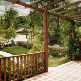 Gartenüberdachung aus Holz