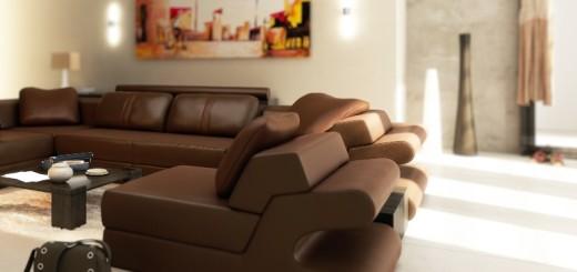 Sofagarnitur im Wohzimmer