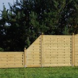 Sichtschutzzaun aus Holz
